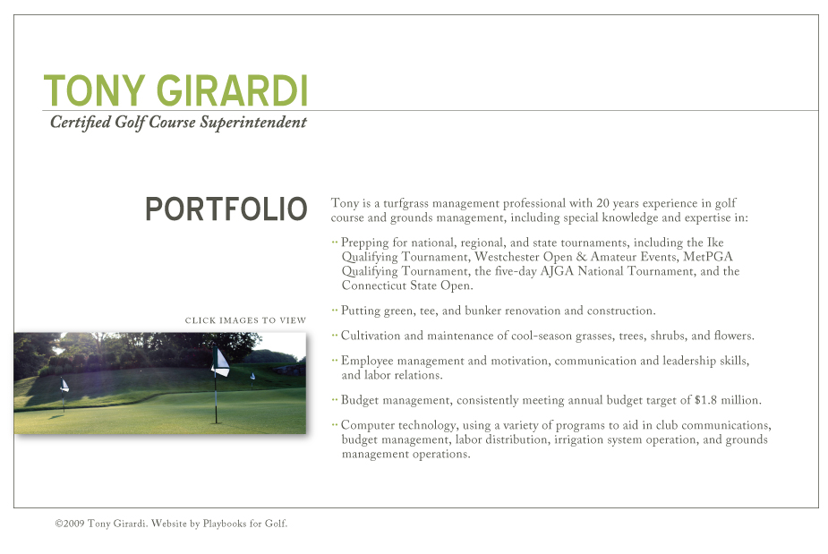 tony girardi certified golf course superintendent